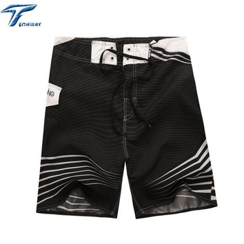 Big Size Mens Shorts Surf Board Shorts Summer Sport Beach Homme Bermuda Short Pants Quick Dry Silver Boardshorts 2017 New 30-44