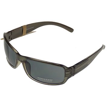 Levi Strauss DOCKERS Sunglasses UV Rectangular Gray Plastic 62-20-130 Mens