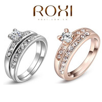 ROXI 18K gold plated Paving Diamond Wedding &Engament ring [7981085319]