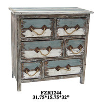 Crestview Nantucket 6 Drawer Weathered Wood Chest - CVFZR1244