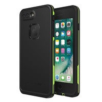 Lifeproof 77-56981 FRĒ SERIES Waterproof Case for iPhone 8 Plus & 7 Plus (ONLY) - Retail Packaging - NIGHT LITE (BLACK/LIME)