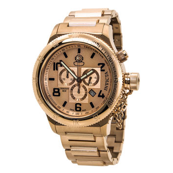 Invicta 15477 Men's Russian Diver Chronograph Dive Rose Gold Dial Rose Gold Steel Watch