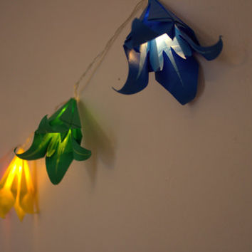 10 Lovely Two Toned LED Origami Fairy Lights / String Lights