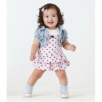 2017 summer style Infant clothes baby girl dress cake Princess dress+vest Baby wear newborn Baby Girls clothing set