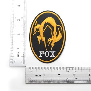 D0138 Metal Gear Solid Foxhound Fox Hound Golden Embroidered IRON ON/ SEW ON Cool Biker Vest Patch Badge Halloween