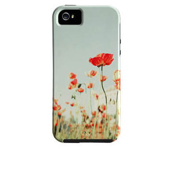 SALE,  Floral iPhone 4 Case, ,iPhone 5 Case, Vibe Case,  Red Poppies, Poppy Flower iPhone Case, Girly iPhone Case, iPhone 4 Case