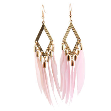 Korean Summer Tassels Earrings Travel Club Prom Dress [6258316038]