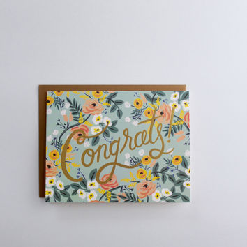Celebrate with Flowers Congrats Greeting Card