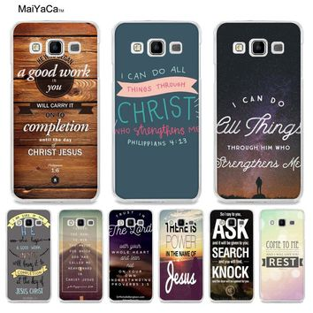 MaiYaCa Bible verse Philippians Jesus Christ Christian Coque Phone case for Samsung A5 A3 A7 2016 A8 A9 2015 Note 4 Note 5