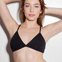Cotton Spandex Jersey Cross-Back Bra | American Apparel