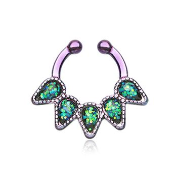 Colorline Opal Quinary Spear WildKlass Fake Septum Clip-On Ring