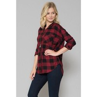 Wanderlust Flannel - Red