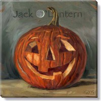 Halloween Gallery Wrap on Wood Frame ~ Jack O'Lantern