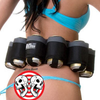 6 Pack Holster Portable Bottle Waist Beer Belt Bag Handy Wine Bottles Beverage Can Holder Drop Shipping