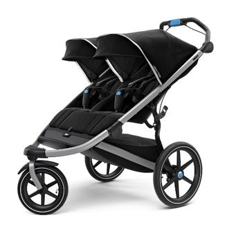Thule Active with Kids Urban Glide 2 Double Stroller - Black/Silver