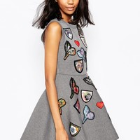 Sportmax Unito Embellished Skater Dress