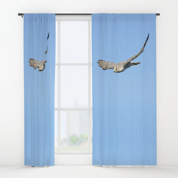 The moment, not the bird, divine Window Curtains by anipani