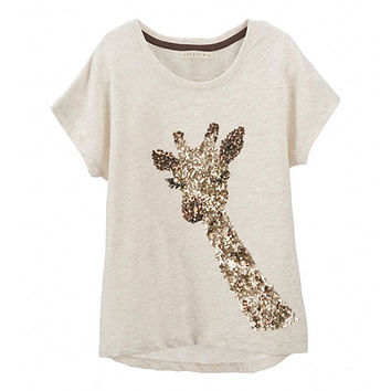 Copper Key 7-16 Sequin Giraffe Top | Dillards