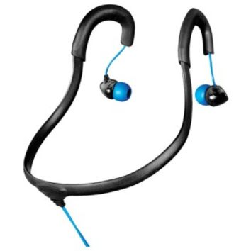 X-1 Audio - Surge Sportwrap Waterproof Behind-the-Neck Earbud Headphones - Black