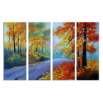 Forest of Bold Colors Landscape Canvas Wall Art Oil Painting