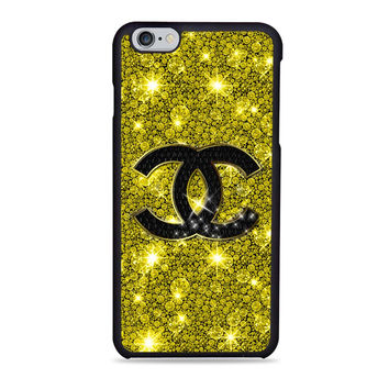 chanel gold glitter fashion logo Iphone 6 Cases