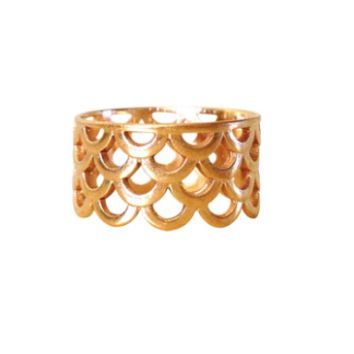 Keani Jewelry Mermaid Scale Ring 14K Heavy Gold Plated or Sterling Silver 7dca650e75