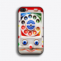 Vintage Toy Phone - iPhone 4 Case, iPhone 4s Case, iPhone 4 Hard Case, iPhone Case