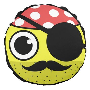 Pirate Face Round Pillow