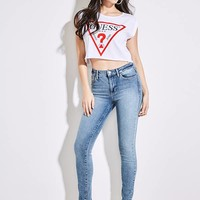 Triangle Logo Cropped Tee at Guess