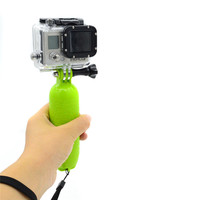 Floating Handle Grip Pole Floaty Bobber + Thumbscrew + Wrist Strap for Gopro session Go pro 4/3+/3/2/SJ4000/Xiao mi camera GP307
