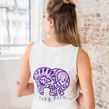 Perfect Fit White Paisley Blossom Tank