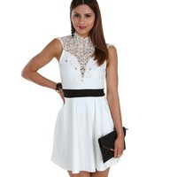Sale-ivory Jeweled Dream Skater Dress