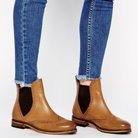 ASOS ABSENT MIND Leather Chelsea Ankle Boots