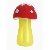 Fa_valley Humidifier Mushroom, Mini Diffuser for Car, Baby Air Purifier Humidifiers, Led Nightlight for Home Room Designs (Red)