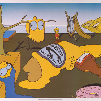 The Simpsons Salvador Dali Parody 1999 Poster 25x35