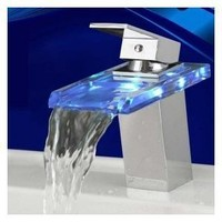 LightInTheBox Temperature Sensitive Single Handle Centerset LED Lavatory Faucet, Chrome - Amazon.com