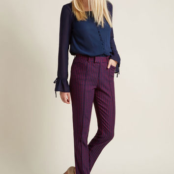 Retro Trousers with Seaming