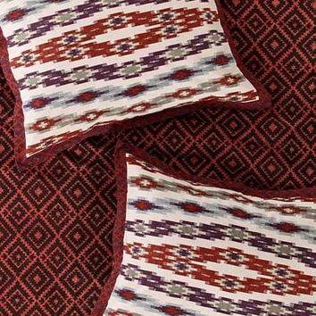 4040 Locust Asher Ikat Sham Set- Red One