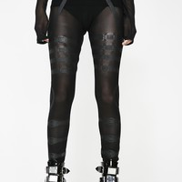 Mesh Bondage Leggings