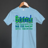 Seattle Skyline with Nicknames