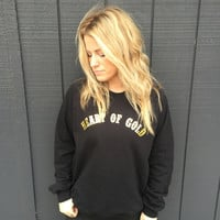 Heart of Gold pullover