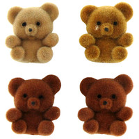 Miniature Assorted Brown Flocked Teddy Bears | Hobby Lobby | 224717