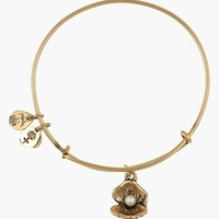 Women's Alex and Ani 'Oyster' Charm Expandable Bangle