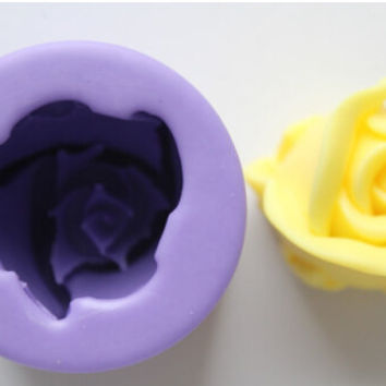 Rose Silicone Mold Silicone Soap Mold Candle Flower Design Mold Cake Mold