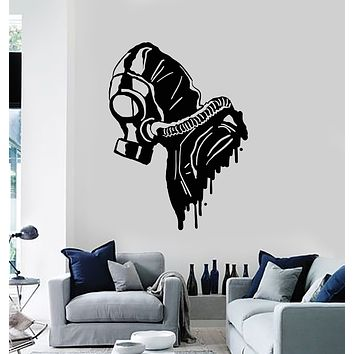 Vinyl Wall Decal Biohazard Gas Mask Respirator Military Decor Stickers Mural (g1642)