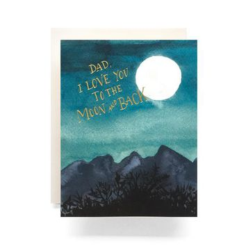 ANTIQUARIA DAD LOVE YOU TO THE MOON GREETING CARD