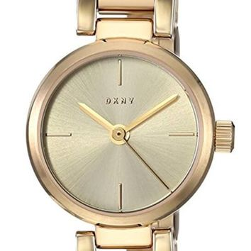 DKNY Ellington Sunray Dial Gold Toned Steel Bangle Women Watch NY2628