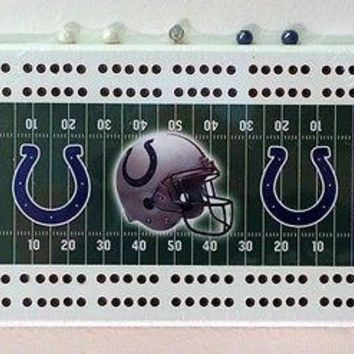 Indianapolis Colts NFL Football Cribbage Board
