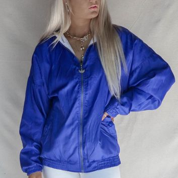 VINTAGE Royal Blue Adidas Windbreaker