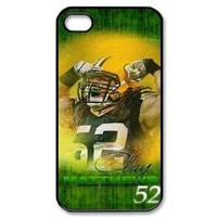Creative Design NFL Green Bay Packers Team Star #52 Clay Matthews Iphone 4 4s Cover, Best Case show 1z650